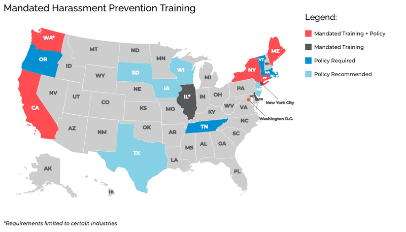 Harassment training in US
